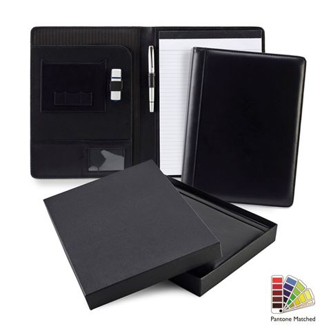 Picture of Pantone Matched Sandringham Leather A4 Conference Pad Holder