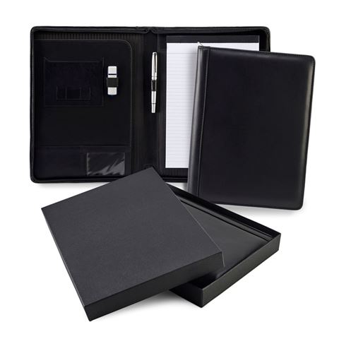 Picture of Sandringham Nappa Leather Zipped A4 Conference Pad Holder