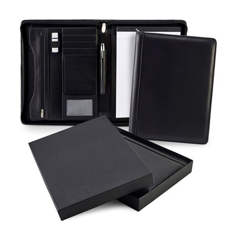 Picture of Sandringham Nappa Leather Deluxe Zipped A4 Conference Pad Holder