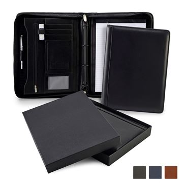 Picture of Accent Sandringham Nappa Leather Colours Deluxe A4 Zipped Ring Binder