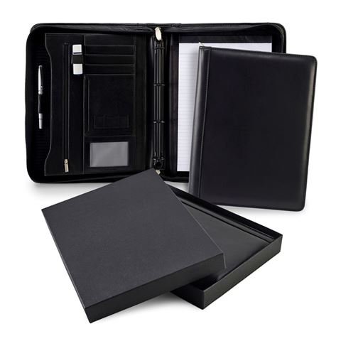 Picture of Sandringham Nappa Leather Deluxe A4 Zipped Ring Binder