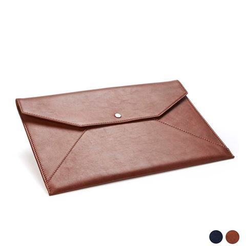 Picture of Accent Sandringham Leather Colours Under Arm Folio / Laptop Case with Press Stud to Close.