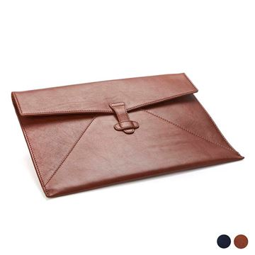 Picture of Accent Sandringham Leather Colours Under Arm Folio / Laptop Case with Strap to Close