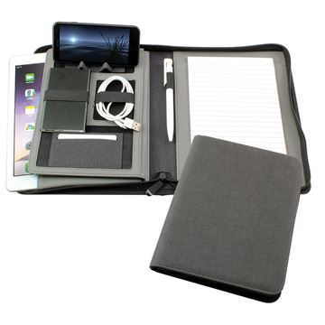 Picture of JTec A5 Zipped Technology Portfolio with Tablet Pocket