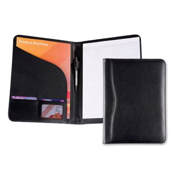 Picture of Black Balmoral Leather A4 Conference Folder