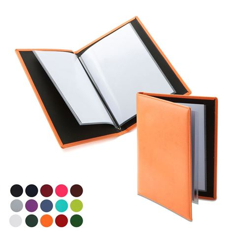 Picture of  A5 Wine List or Menu Holder in Belluno, a vegan coloured leatherette with a subtle grain.