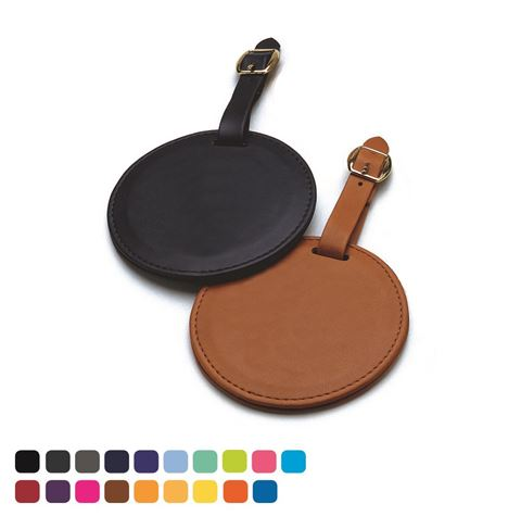 Picture of Round Bag Tag in Soft Touch Vegan Torino PU.