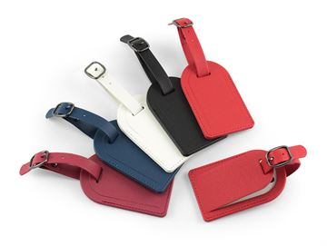 Picture of Small Luggage Tag with Security Flap, in recycled Como, a quality vegan PU.