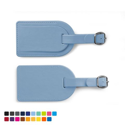 Picture of Small Luggage Tag with Security Flap in Soft Touch Vegan Torino PU.