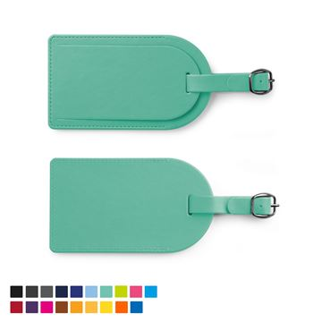 Picture of Large Luggage Tag with Security Flap in Soft Touch Vegan Torino PU.