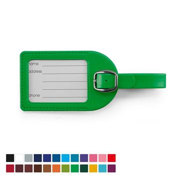 Picture of Small Luggage Tag in a choice of 20 colours, vegan soft touch Belluno.