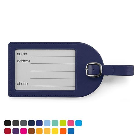 Picture of Large Luggage Tag in Soft Touch Vegan Torino PU.