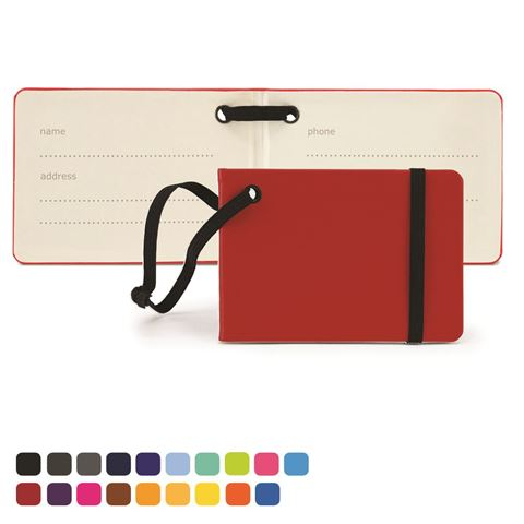 Picture of Notebook Style Luggage Tag in Soft Touch Vegan Torino PU.
