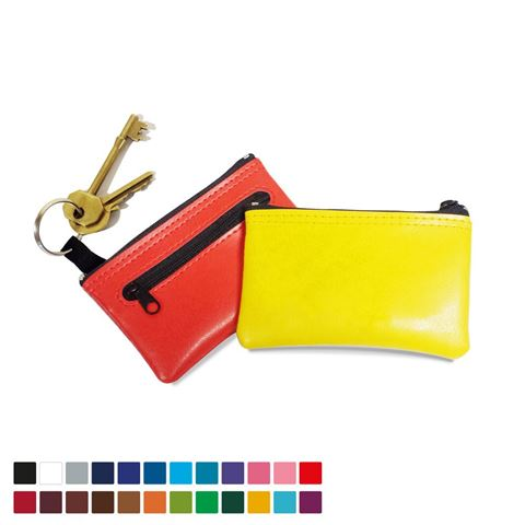 Picture of Key Holder & Coin Purse, in Belluno, a vegan coloured leatherette with a subtle grain.