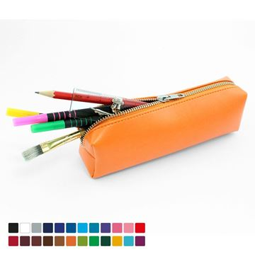 Picture of Pencil or Cosmetics Case in Belluno, a vegan coloured leatherette with a subtle grain.
