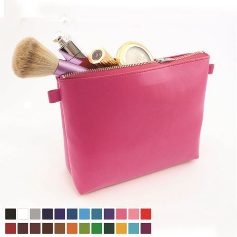 Picture of Toiletry or Accessory Case in Belluno, a vegan coloured leatherette with a subtle grain.
