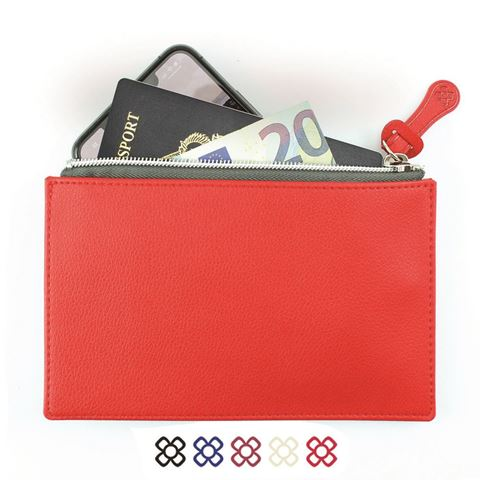 Picture of Small Zipped Pouch in recycled Como, a quality vegan PU.