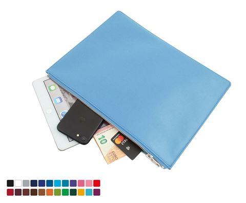 Picture of Colours Large Zipped Pouch in Belluno, a vegan coloured leatherette with a subtle grain.