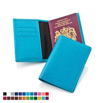 Picture of Passport Wallet in Belluno, a vegan coloured leatherette with a subtle grain.
