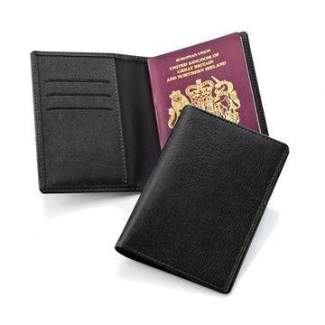 Picture of Black Belluno Deluxe Passport Wallet