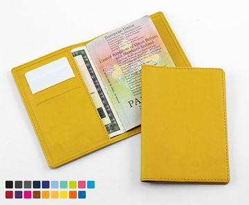 Picture of Deluxe Passport Wallet in Soft Touch Vegan Torino PU.