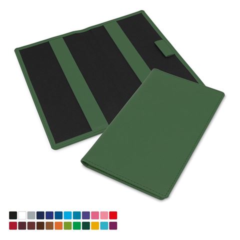 Picture of Golf Score Card Holder in Belluno, a vegan coloured leatherette with a subtle grain.