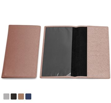 Picture of Travel Wallet in a choice of 4 colours in textured vegan Saffiano.