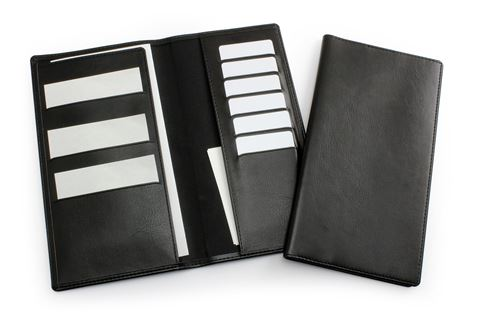 Picture of Black Travel Wallet in Leather Look Belluno PU.