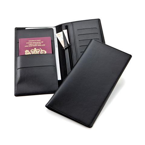Picture of Black Belluno Deluxe Travel Wallet