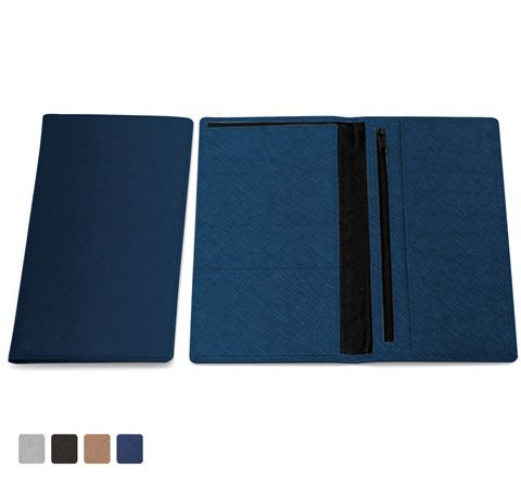 Picture of Deluxe Saffiano Deluxe Travel Wallet in a choice of 4 colours in textured vegan Saffiano.