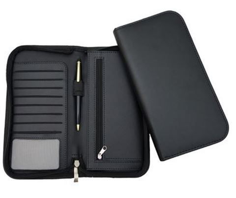Picture of Clapham PU Deluxe Zipped Travel Wallet