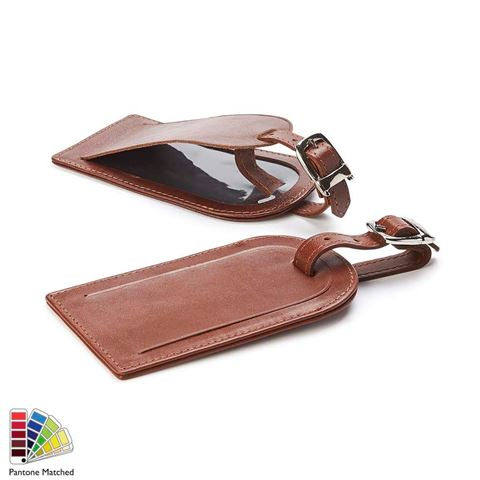 Picture of Luggage Tag in Sandringham Nappa Leather Protection made to order in any Pantone Colour