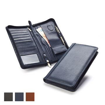 Picture of Accent Sandringham Nappa Leather Colours, Deluxe Zipped Travel Wallet