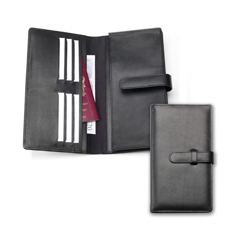 Picture of Sandringham Nappa Leather Deluxe Travel Wallet with Strap