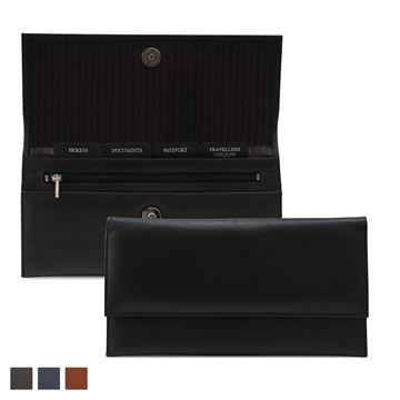 Picture of Accent Sandringham Nappa Leather Colours, Envelope Travel Wallet