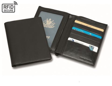 Picture of Sandringham Nappa Leather Deluxe RFID Passport Wallet