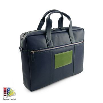Picture of Pantone Matched Sandringham Leather Commuter Bag