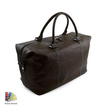 Picture of Pantone Matched Sandringham Leather Weekender Bag