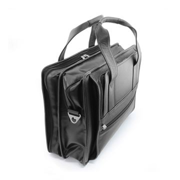 Picture of Sandringham Nappa Leather Carry on Flight Bag in black.