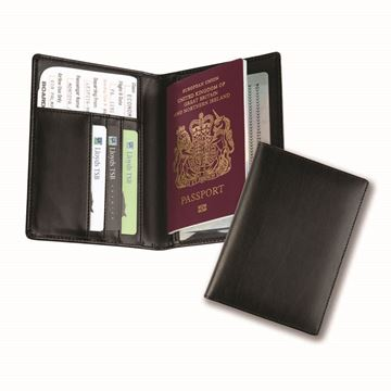 Picture of Balmoral Bonded Leather Deluxe Passport Holder