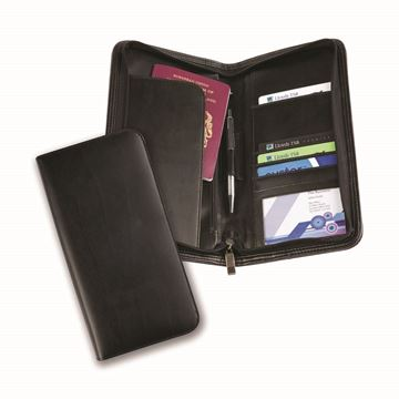 Picture of Balmoral Bonded Leather Deluxe Zipped Travel Wallet