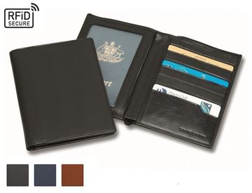 Picture of Accent Sandringham Nappa Leather Colours, Deluxe RFID Passport Wallet