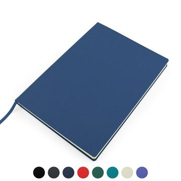 Picture of Recycled ELeather A4 Casebound Notebook, made in the UK in a choice of 8 colours.