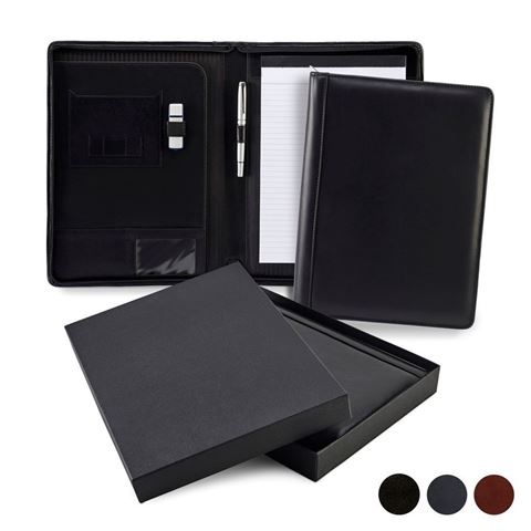 Picture of Accent Sandringham Nappa Leather Colours Zipped A4 Conference Pad Holder