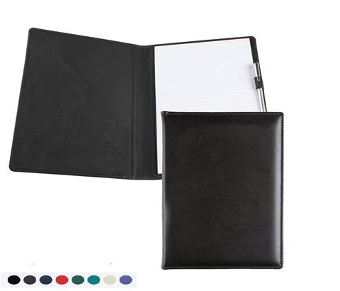 Picture of A4 Conference Folder with co ordinating Leather Interior Pockets Recycled Environmentally friendly Eleather, in a choice of 8 colours.