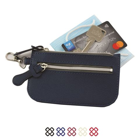 Picture of Mini Zipped Pouch with Bag Clip in Recycled Como Vegan PU.