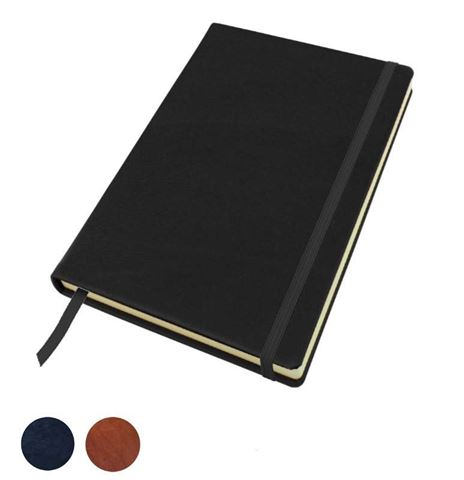 Picture of Sandringham Nappa Leather Colours, A5 Casebound Notebook with Elastic Strap