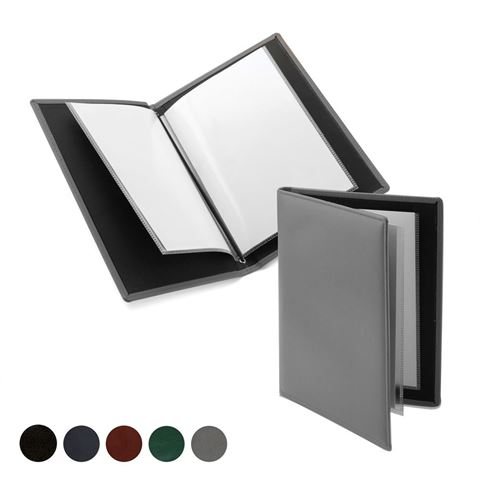 Picture of Hampton Leather A5 Wine List or Menu Holder, made in the UK in a choice of 5 colours.