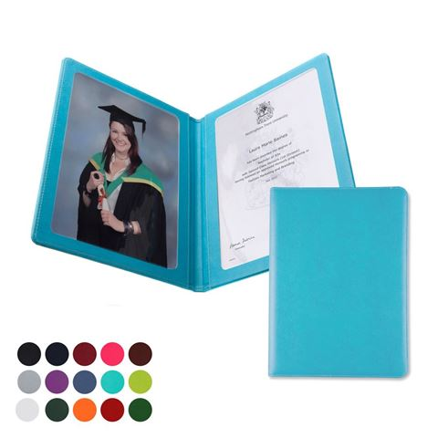 Picture of  A4 Certificate or Price List Holder in Belluno, a vegan coloured leatherette with a subtle grain.