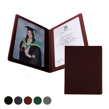 Picture of Hampton Leather A4 Certificate or Price List Holder, made in the UK in a choice of 5 colours.